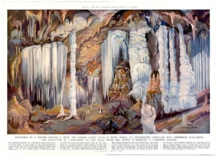 1937 Large Colour CANGO CAVES Montague Black CELLINI PENDANTS Newspaper Print